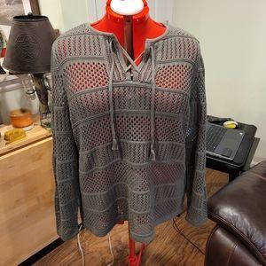 Cj banks Women's Mesh Sweater 2X NWT